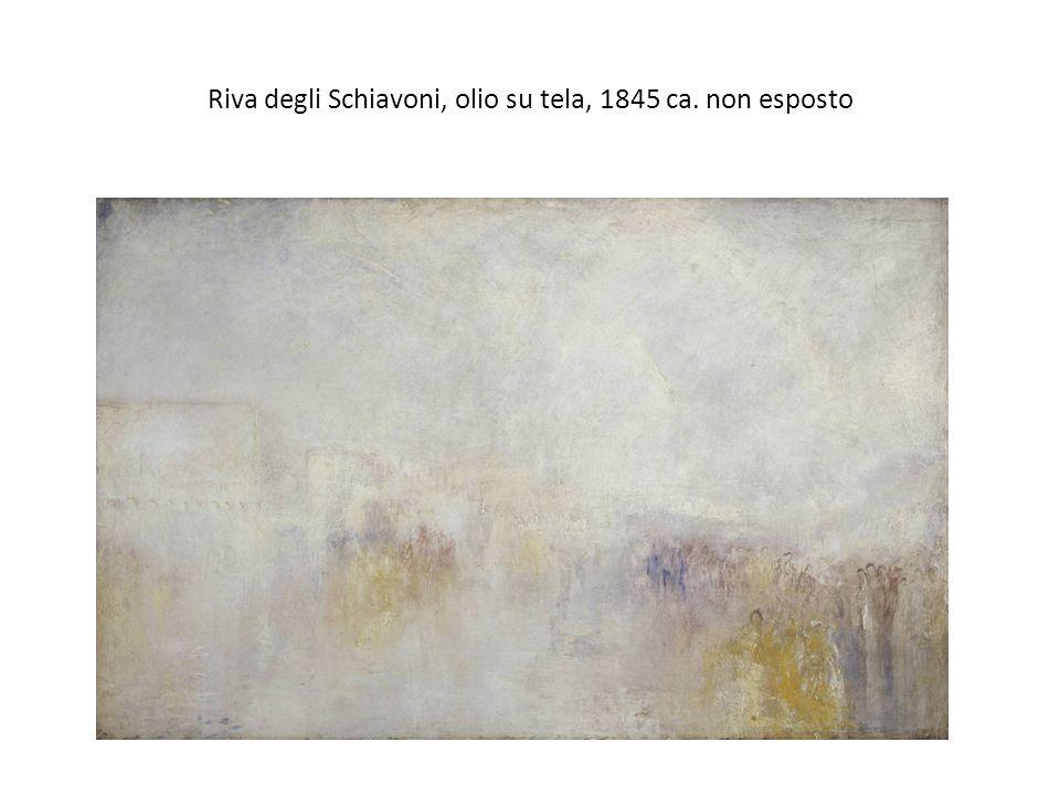 Riva degli Schiavoni, olio su tela, 1845 ca. non esposto