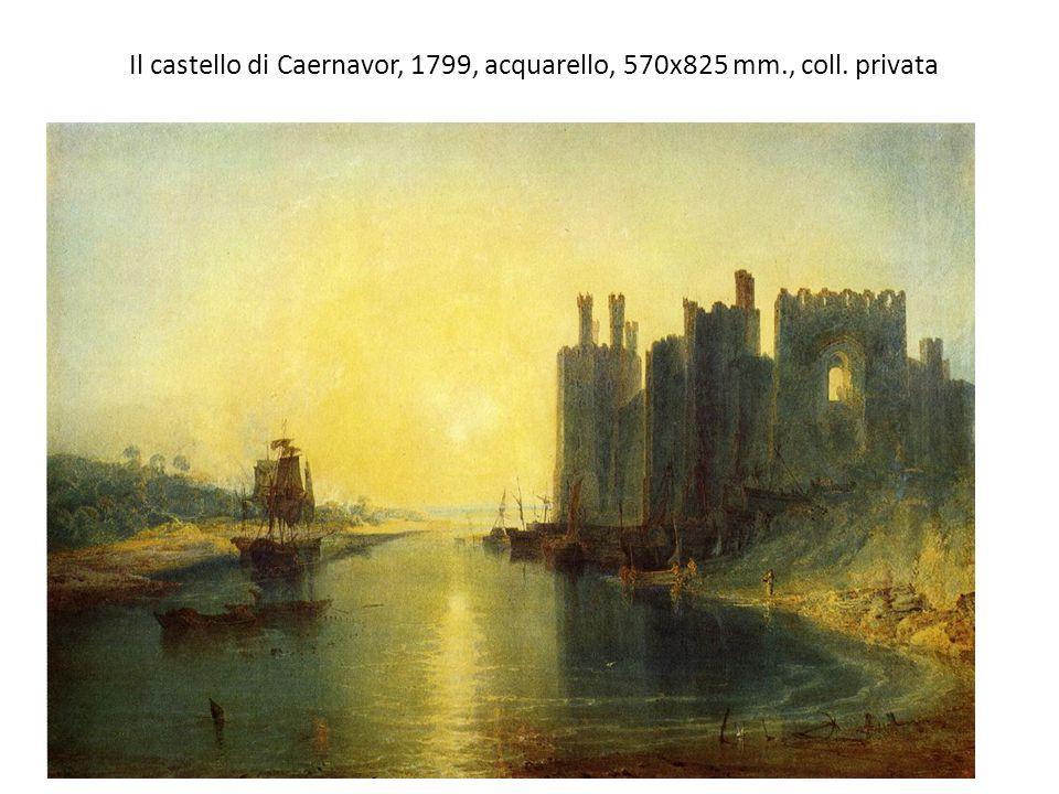 Il castello di Caernavor, 1799, acquarello, 570x825 mm., coll. privata