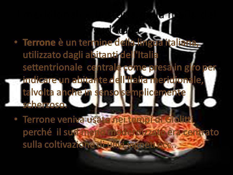 Stereotipi italiani - meridionali Presentazione di Mattia pavanello E Nico contato