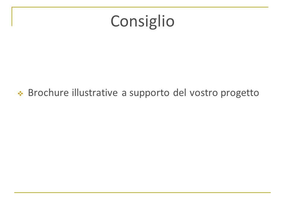 Consiglio  Brochure illustrative a supporto del vostro progetto