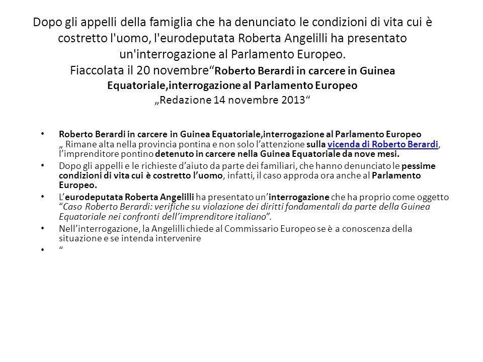 Dopo gli appelli della famiglia che ha denunciato le condizioni di vita cui è costretto l'uomo, l'eurodeputata Roberta Angelilli ha presentato un'inte