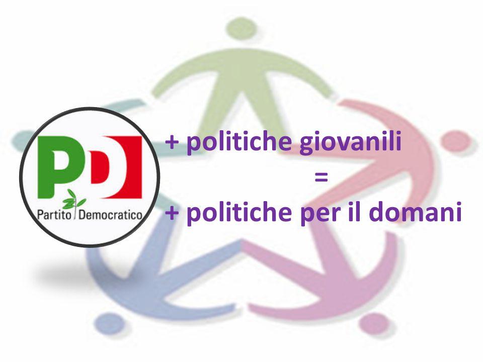 + politiche giovanili = + politiche per il domani