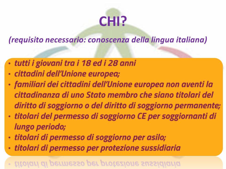 CHI? (requisito necessario: conoscenza della lingua italiana)