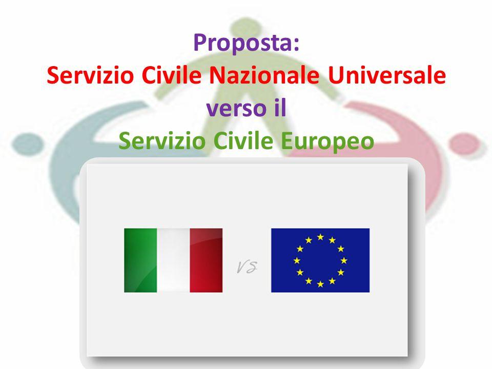 Proposta: Servizio Civile Nazionale Universale verso il Servizio Civile Europeo