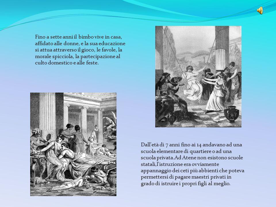 In conformità col nuovo clima economico-sociale-politico viene via via prendendo forma un nuovo ideale educativo. Ad Atene lo scopo dell'educazione de