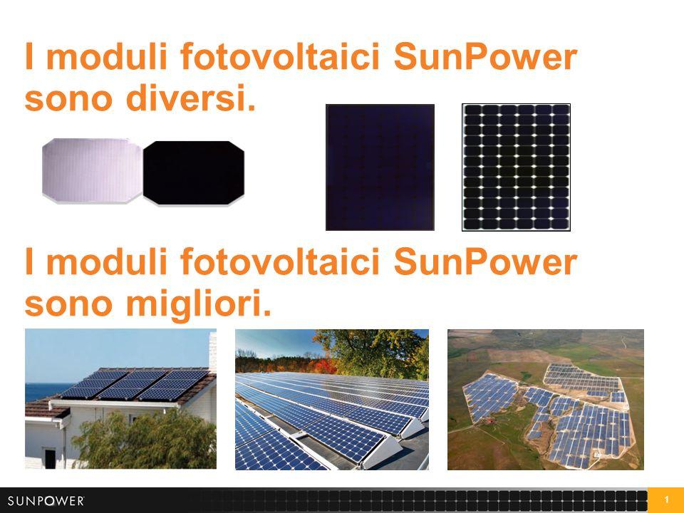1 I moduli fotovoltaici SunPower sono diversi. I moduli fotovoltaici SunPower sono migliori.