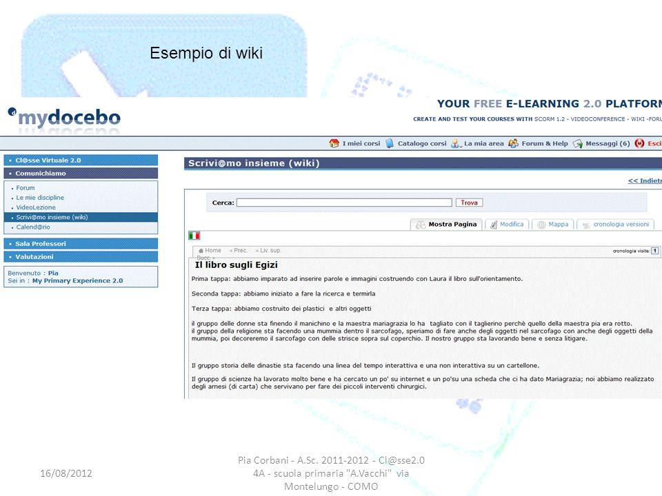 Pia Corbani - A.Sc. 2011-2012 - Cl@sse2.0 4A - scuola primaria