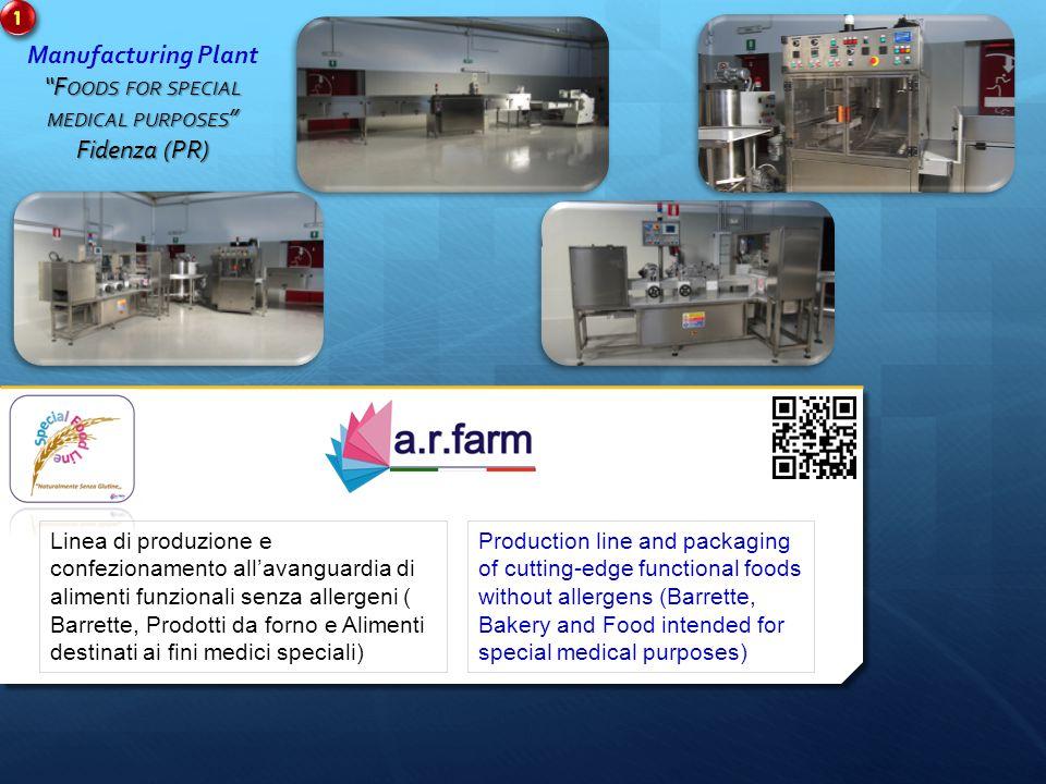 Linea di produzione e confezionamento all'avanguardia di alimenti funzionali senza allergeni ( Barrette, Prodotti da forno e Alimenti destinati ai fin