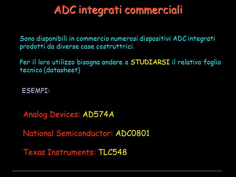ADC integrati commerciali Sono disponibili in commercio numerosi dispositivi ADC integrati prodotti da diverse case costruttrici.
