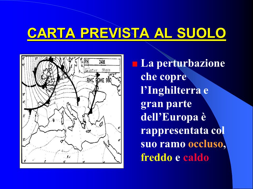 FRONTE: confronto carta tendenze Meteosat