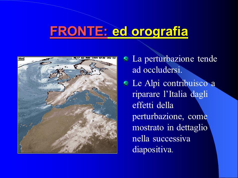 FRONTE: C onfronto carta di previsione al suolo e Meteosat