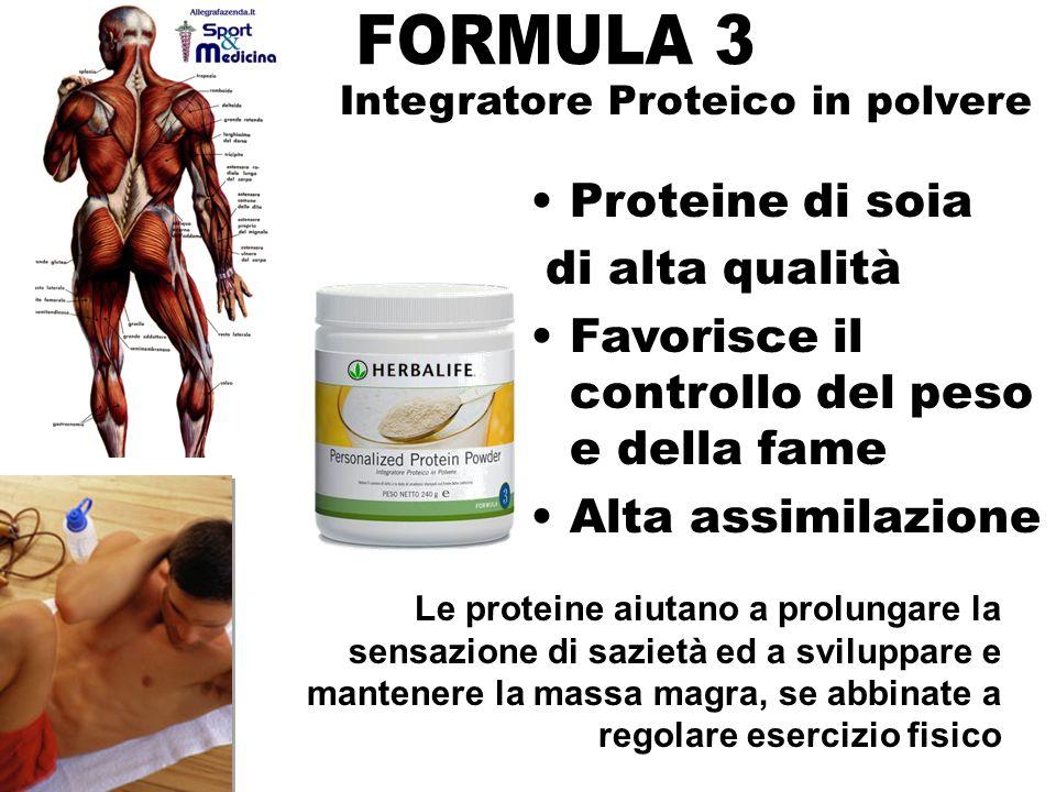 Proteine di soia di alta qualità Favorisce il controllo del peso e della fame Alta assimilazione Integratore Proteico in polvere Le proteine aiutano a prolungare la sensazione di sazietà ed a sviluppare e mantenere la massa magra, se abbinate a regolare esercizio fisico