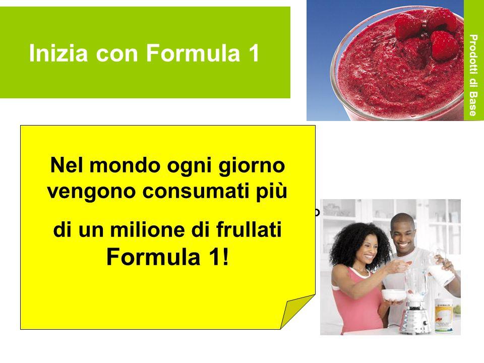 Inizia con Formula 1 Aggiungi 2 cucchiai di Formula 1 (26 g) Aggiungi 250 ml di parzialmente scremato Aggiungi della frutta a tuo gusto Frulla il tutto o agita lo shaker Pronto.