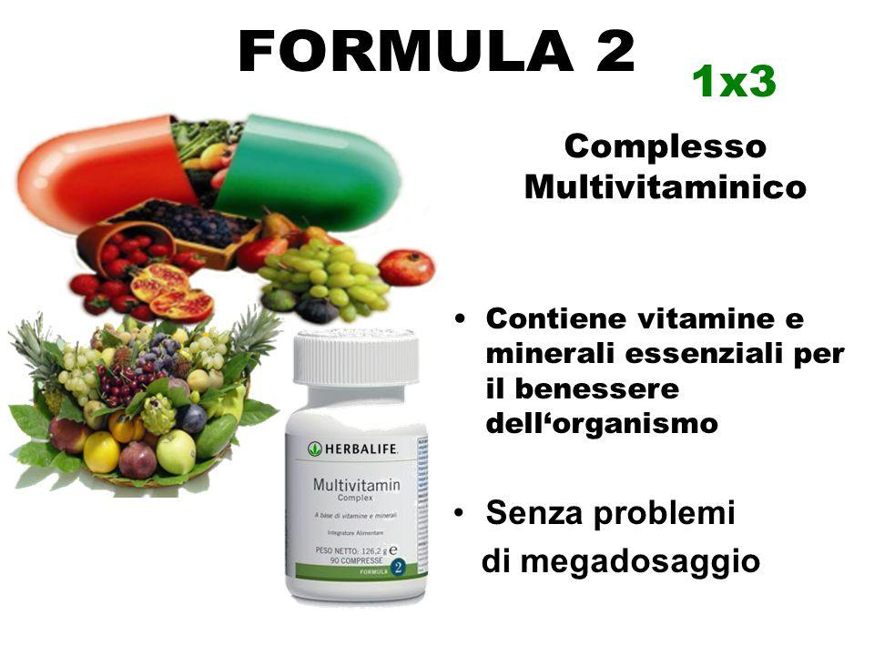 Contiene vitamine e minerali essenziali per il benessere dell'organismo Senza problemi di megadosaggio Complesso Multivitaminico 1x3