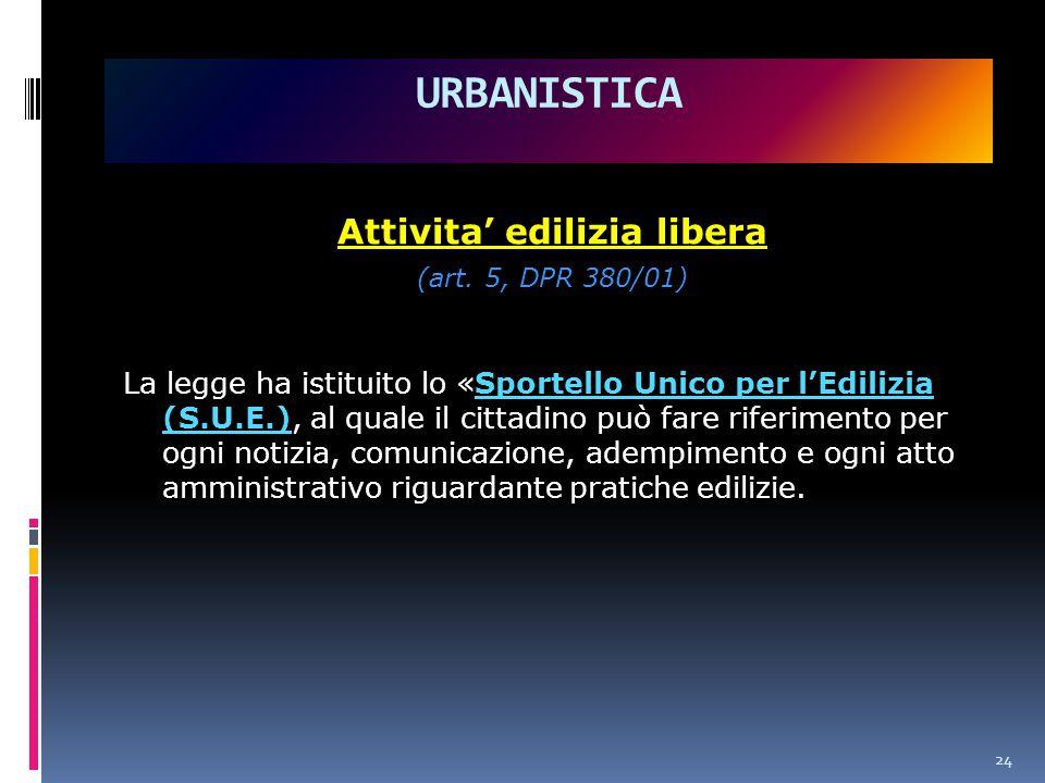 Attivita' edilizia libera (art.
