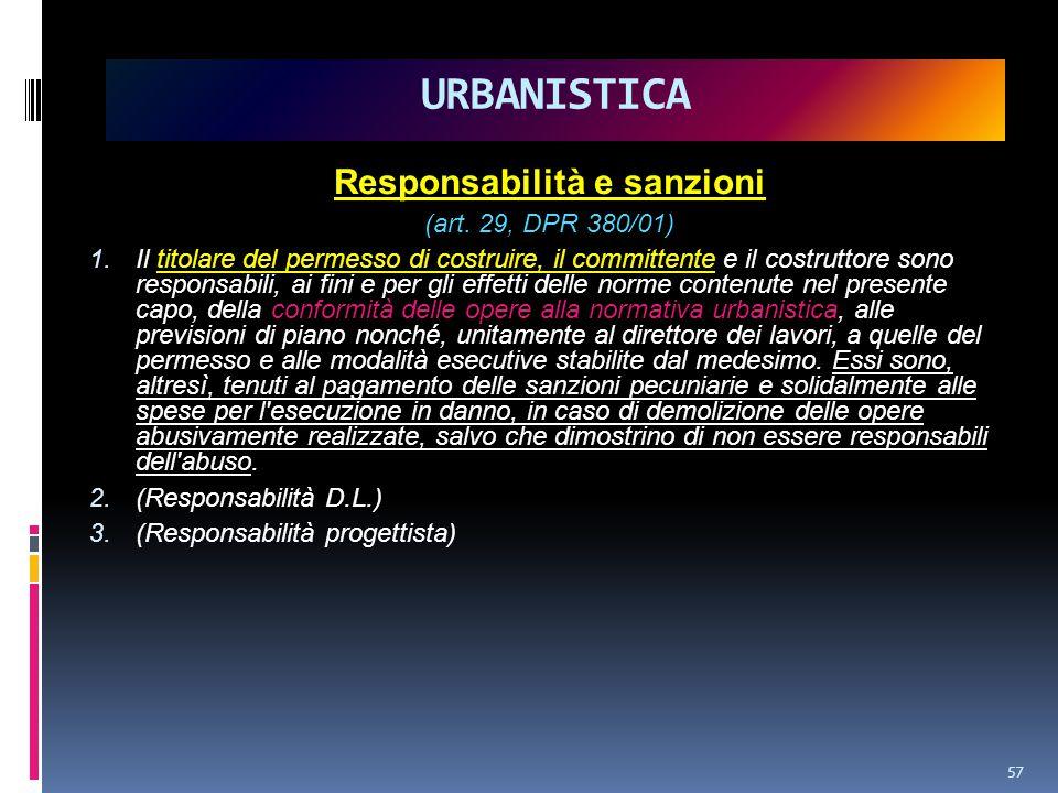 Responsabilità e sanzioni (art.29, DPR 380/01) 1.