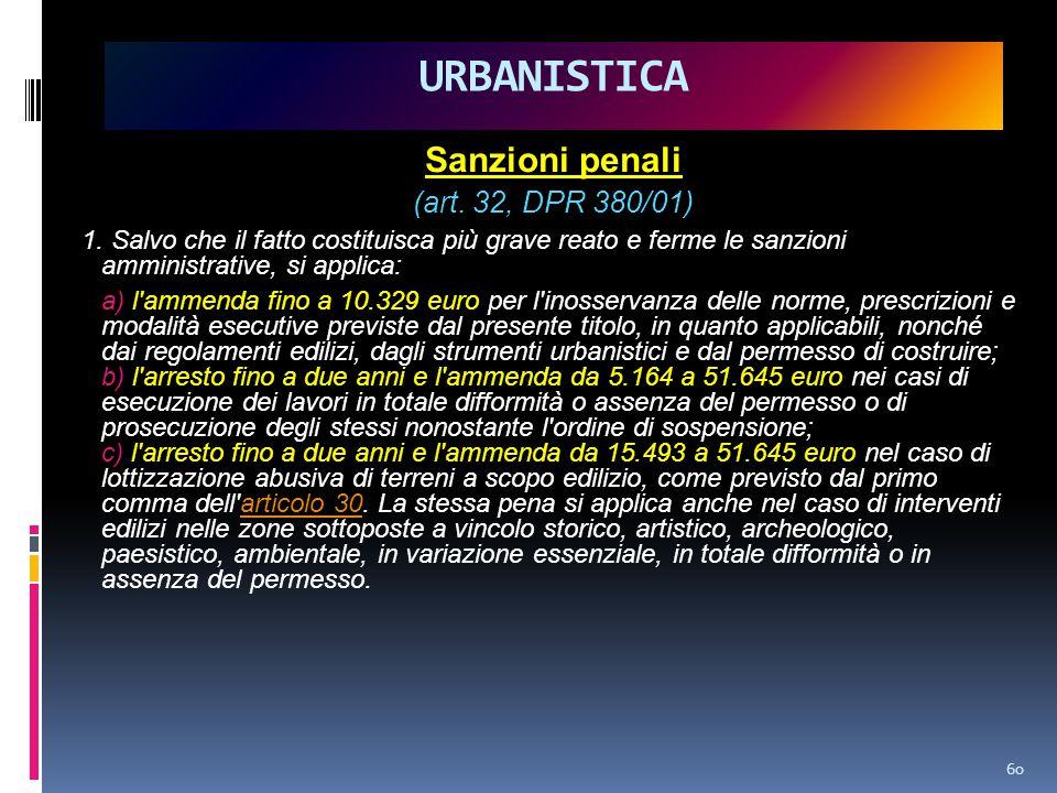 Sanzioni penali (art.32, DPR 380/01) 1.