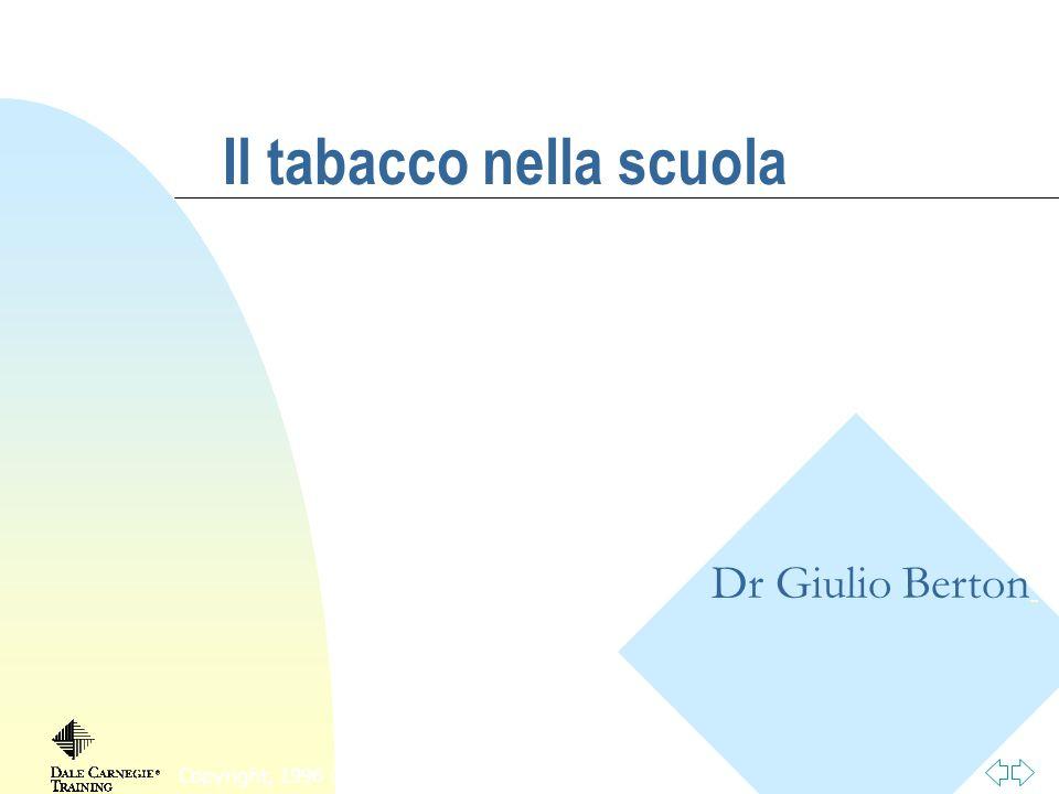 Torna alla prima pagina Fumo passivo Particolarmente dannoso per: u Bambini u Anziani u Malati