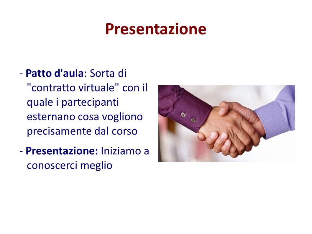 Presentazione - Patto d'aula: Sorta di
