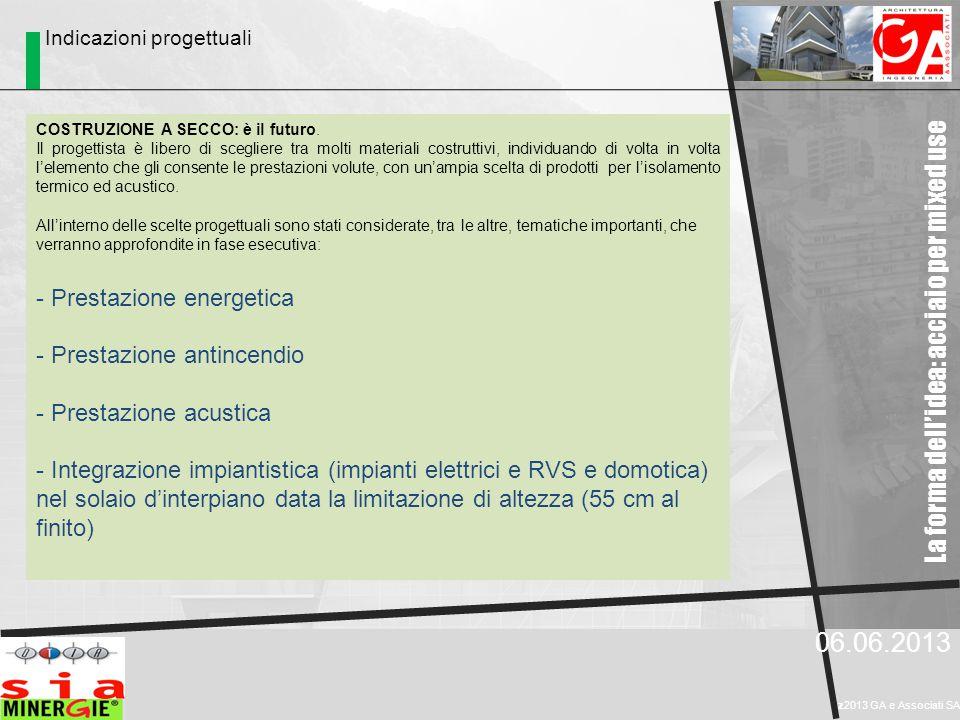 06.06.2013 z2013 GA e Associati SA COSTRUZIONE A SECCO: è il futuro. Il progettista è libero di scegliere tra molti materiali costruttivi, individuand