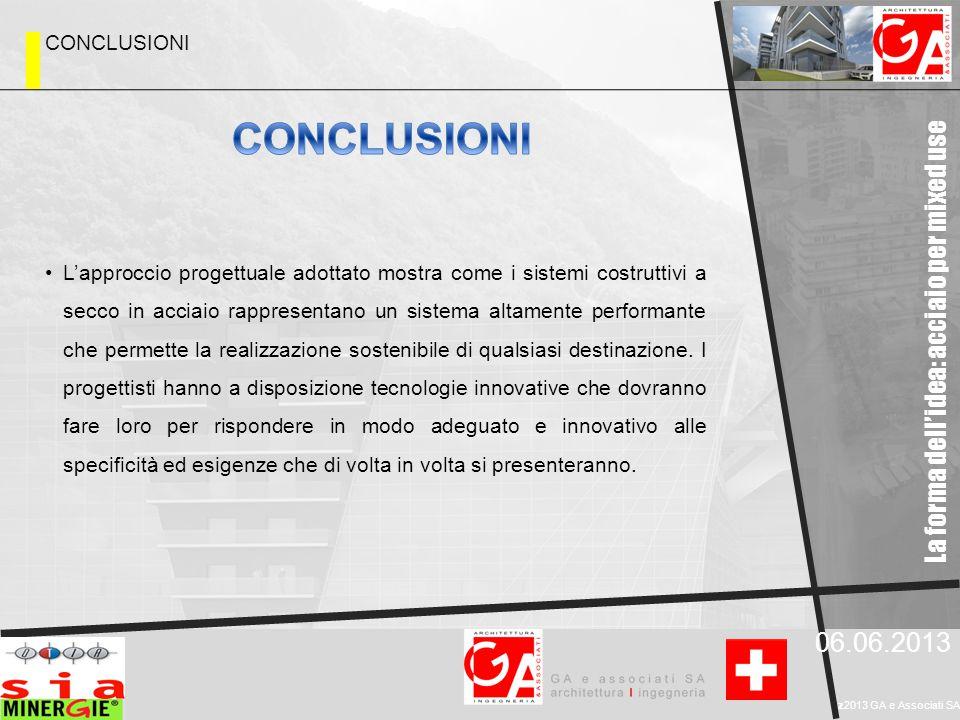 La forma dell'idea: acciaio per mixed use 06.06.2013 z2013 GA e Associati SA L'approccio progettuale adottato mostra come i sistemi costruttivi a secc