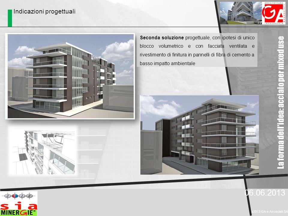 La forma dell'idea: acciaio per mixed use 06.06.2013 z2013 GA e Associati SA Indicazioni progettuali Seconda soluzione progettuale, con ipotesi di uni