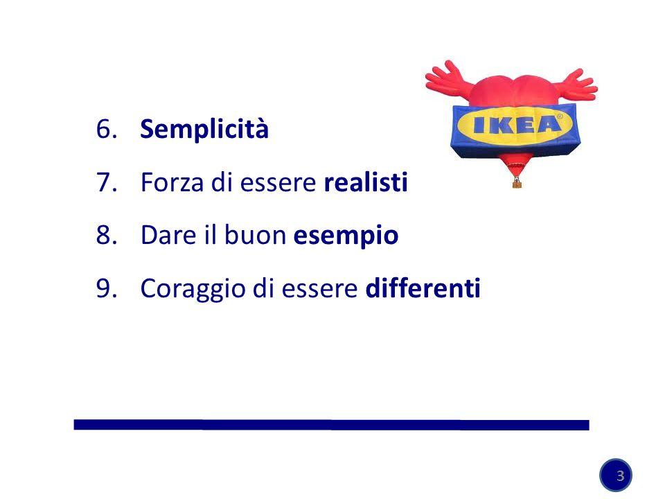6. Semplicità 7. Forza di essere realisti 8. Dare il buon esempio 9. Coraggio di essere differenti 3