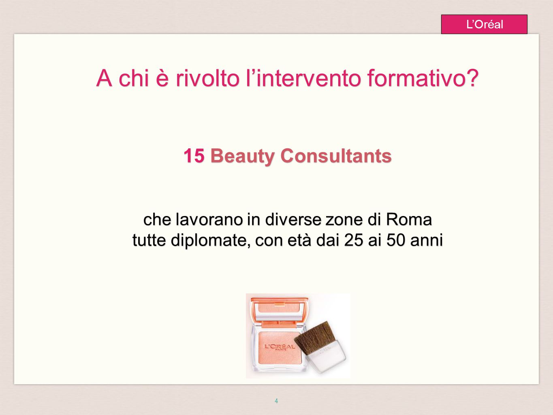 5 L'Oréal Tempi e Location 3 Giornate Formative dal 26 al 28 Ottobre 2012 orario full time 10-18 a Roma presso L'Hotel Boscolo Exedra