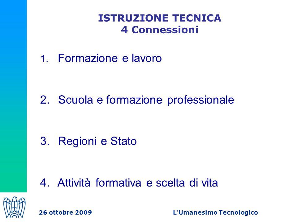 ISTRUZIONE TECNICA 4 Connessioni 1. Formazione e lavoro 2.