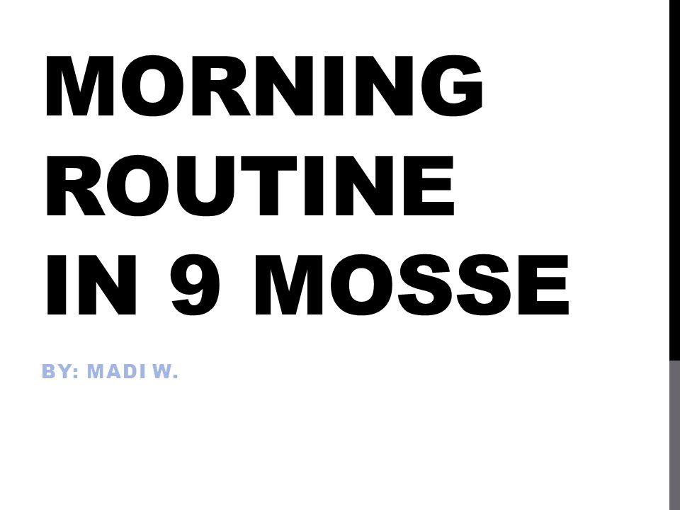 LA MIA MATTINA… 1.Svegliarsi  io mi sveglio 2.Fare colazione  io faccio colazione 3.Fare la doccia  io faccio la doccia 4.Vestirsi  io mi vsto 5.Pettinarsi  io mi pettino 6.Spazzolarsi i denti  io mi spazzolo I denti 7.Fare esercizio  io faccio esercizio 8.Rifare il mio letto  io rifaccio il mio letto 9.Andare a scuola  io vado a scuola