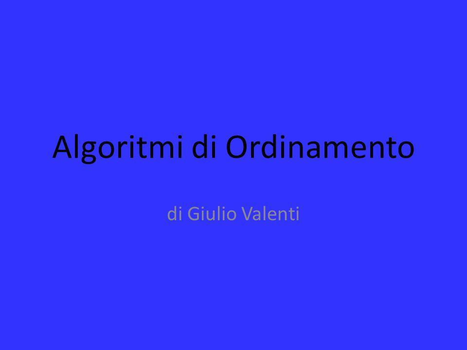 Algoritmi di Ordinamento di Giulio Valenti