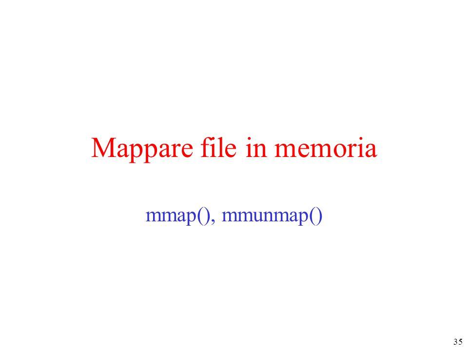 35 Mappare file in memoria mmap(), mmunmap()