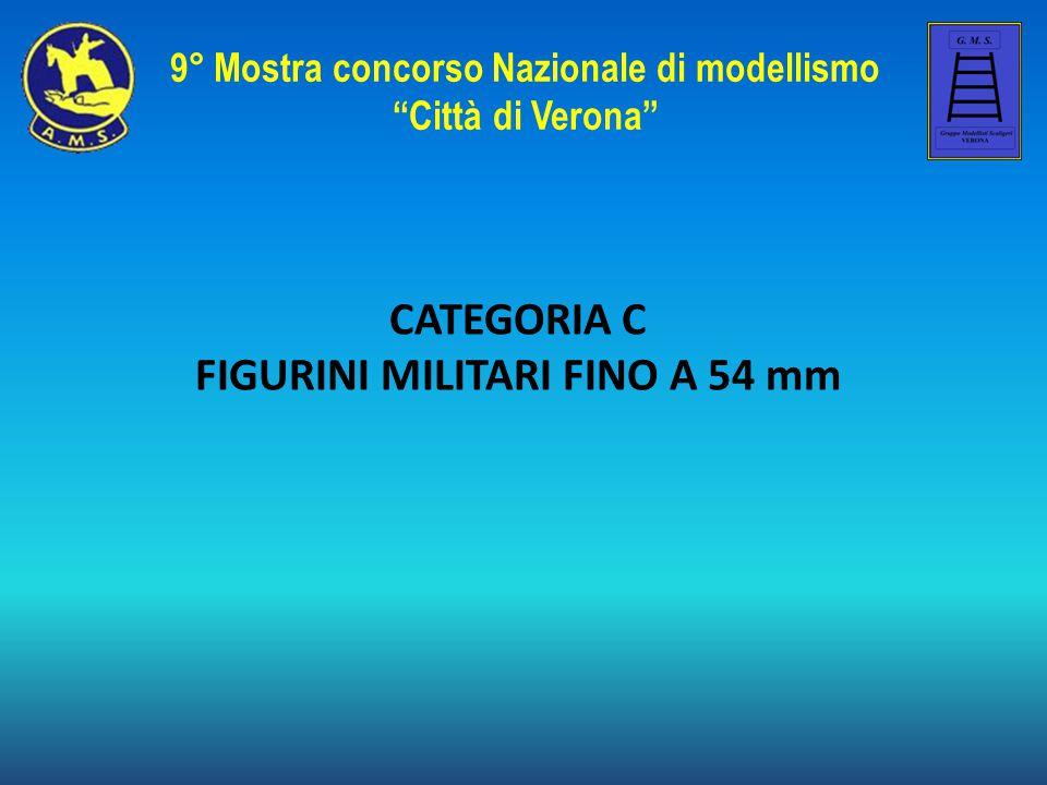 """CATEGORIA C FIGURINI MILITARI FINO A 54 mm 9° Mostra concorso Nazionale di modellismo """"Città di Verona"""""""