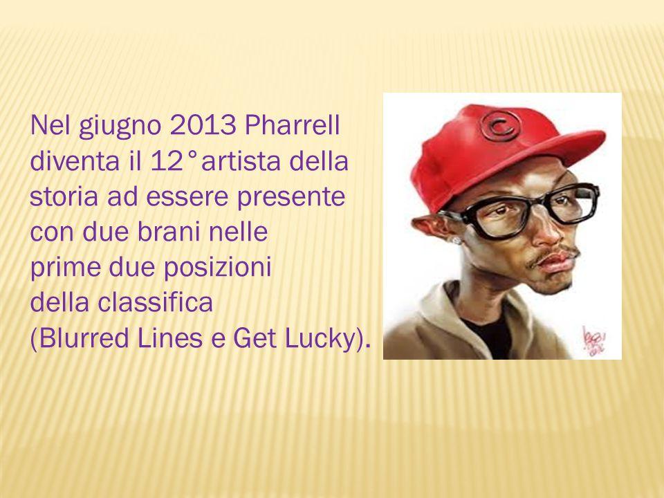Nel giugno 2013 Pharrell diventa il 12°artista della storia ad essere presente con due brani nelle prime due posizioni della classifica (Blurred Lines e Get Lucky).