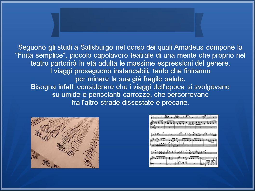 Seguono gli studi a Salisburgo nel corso dei quali Amadeus compone la