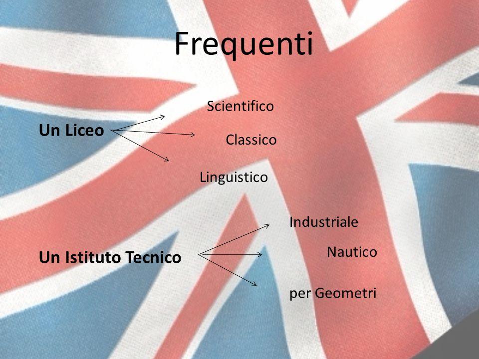 Frequenti Un Liceo Un Istituto Tecnico Scientifico Classico Linguistico Industriale Nautico per Geometri