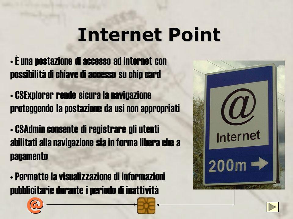 Card-System per Internet Point Una soluzione per la gestione degli accessi ad Internet dei propri clienti