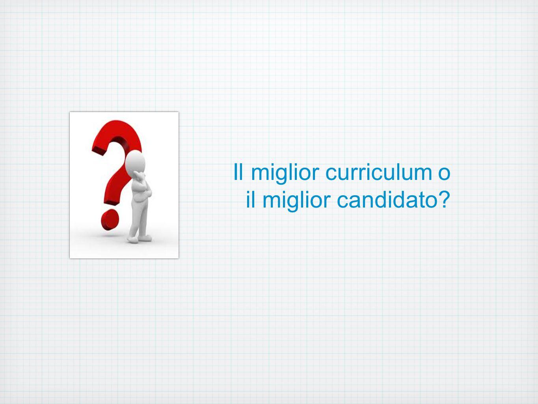 Il miglior curriculum o il miglior candidato?