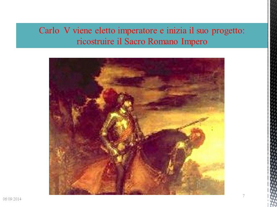 Carlo VFrancesco I di Valois pagano entrambi ai sette principi elettori migliaia di fiorini d'oro per garantirsi il titolo 06/09/2014 6