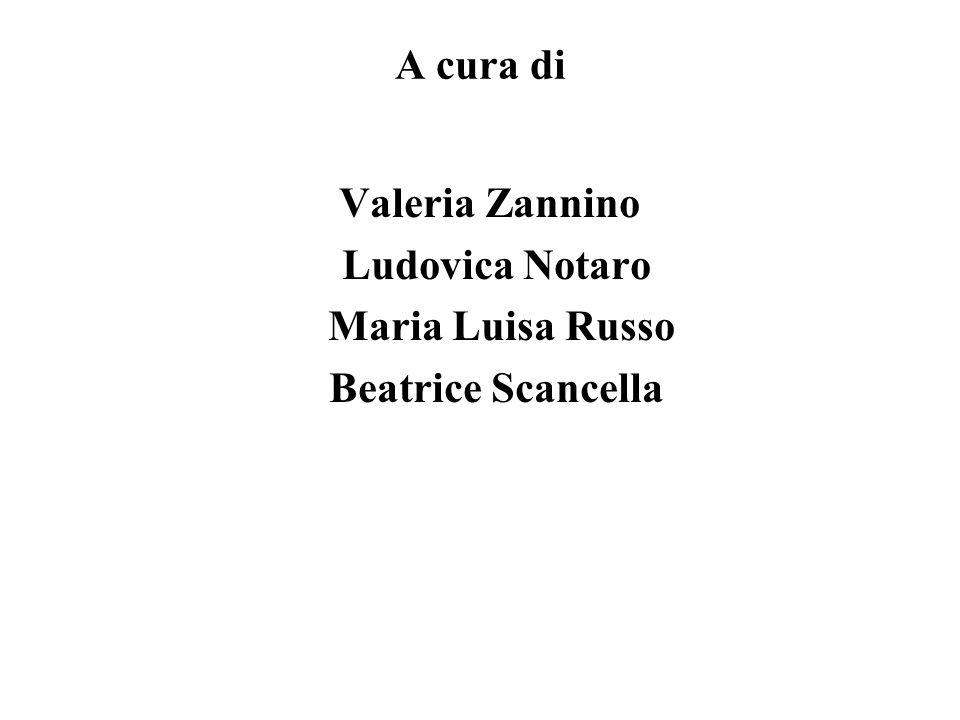 A cura di Valeria Zannino Ludovica Notaro Maria Luisa Russo Beatrice Scancella