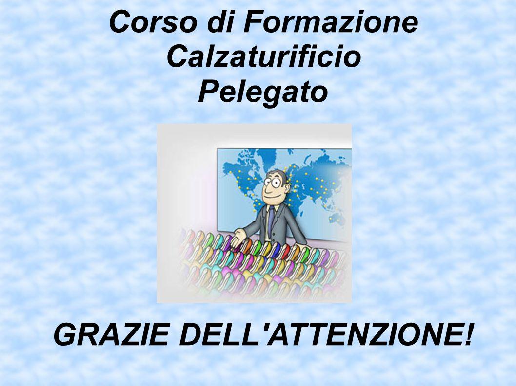 Corso di Formazione Calzaturificio Pelegato GRAZIE DELL ATTENZIONE!