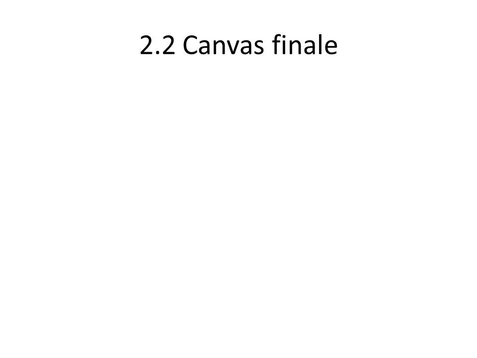 2.2 Canvas finale