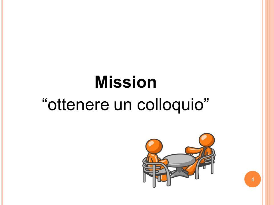 """Mission """"ottenere un colloquio"""" 4"""