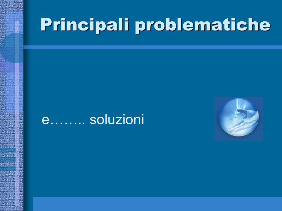 Principali problematiche e…….. soluzioni