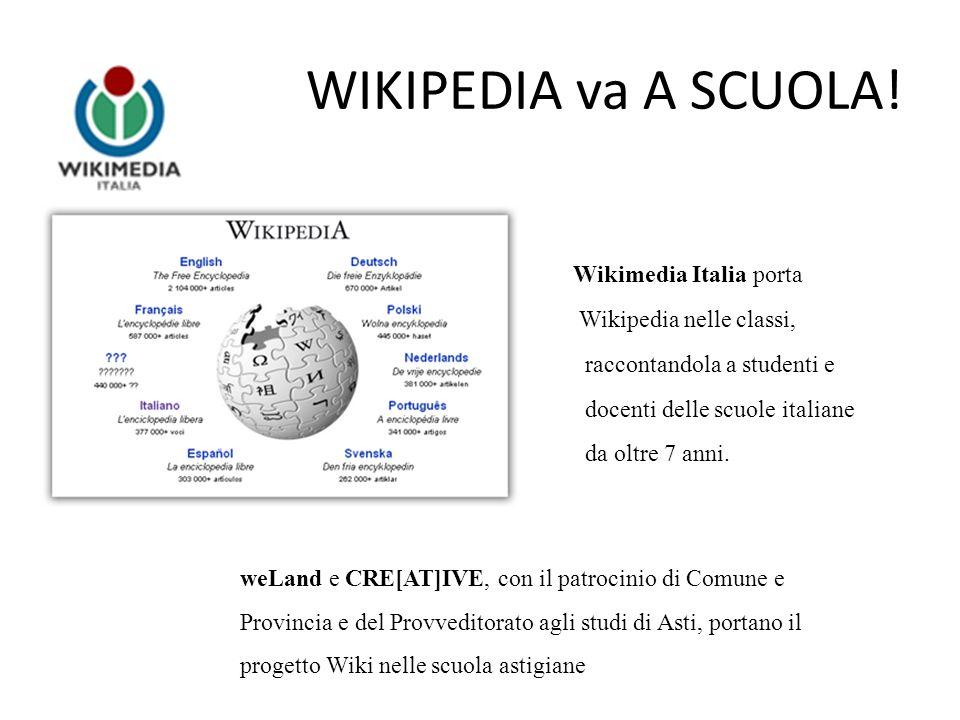 Gli obiettivi formativi di Wikipedia va a scuola 1)Wikipedia: che cosa significa una enciclopedia APERTA 2) Wikipedia come strumento innovativo per la didattica 3) Responsabilità – spirito critico – condivisione: il buon uso di internet