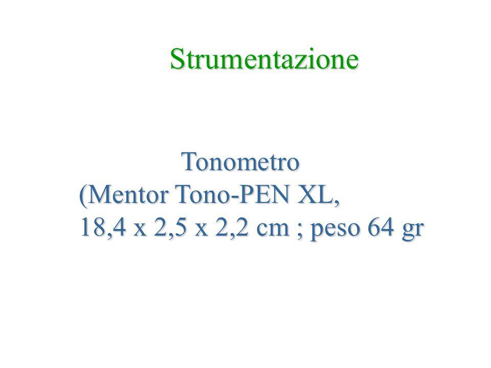 Strumentazione Tonometro Tonometro (Mentor Tono-PEN XL, 18,4 x 2,5 x 2,2 cm ; peso 64 gr