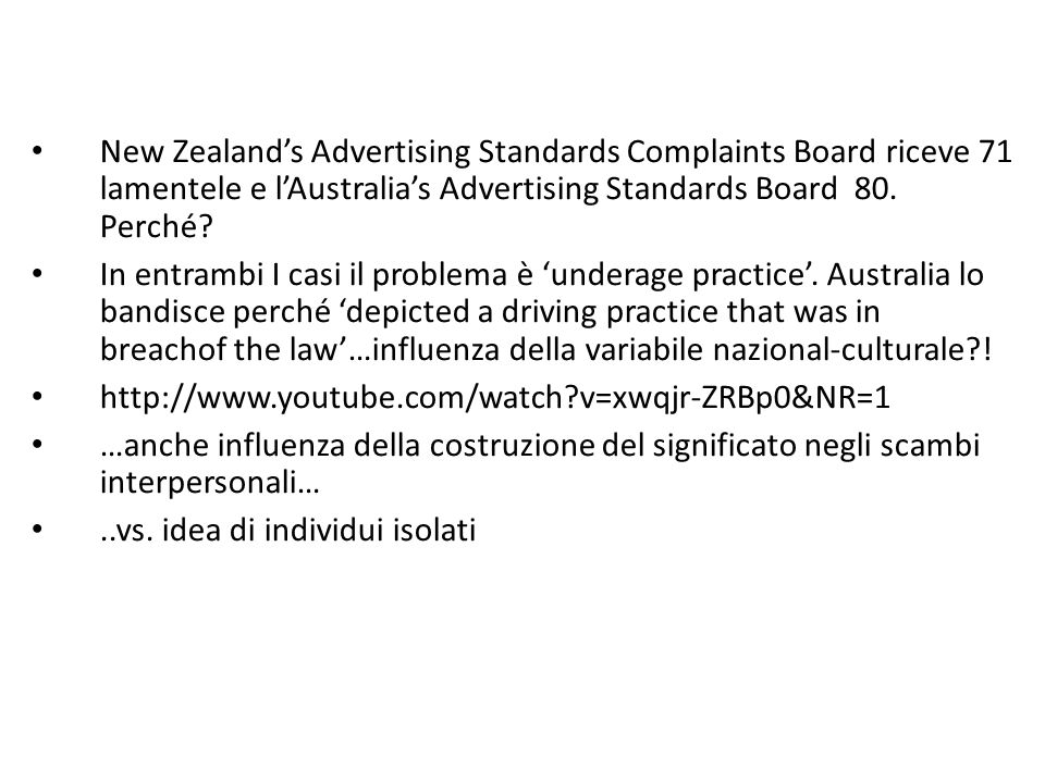 New Zealand's Advertising Standards Complaints Board riceve 71 lamentele e l'Australia's Advertising Standards Board 80.