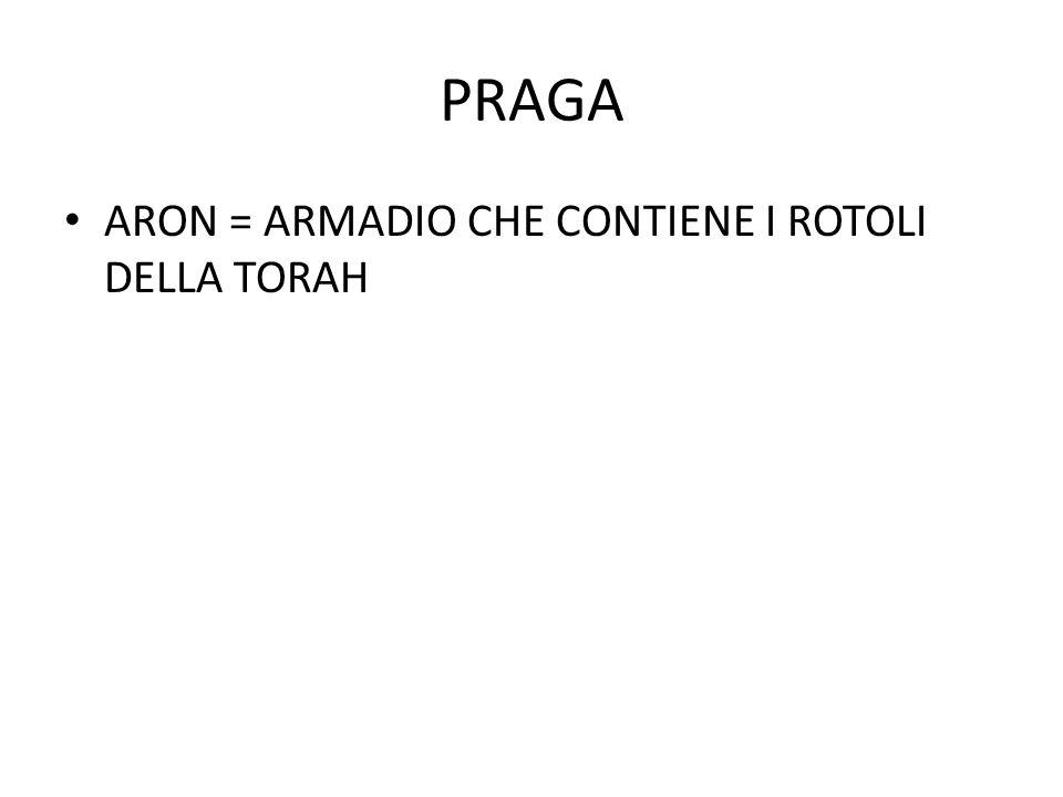 PRAGA ARON = ARMADIO CHE CONTIENE I ROTOLI DELLA TORAH
