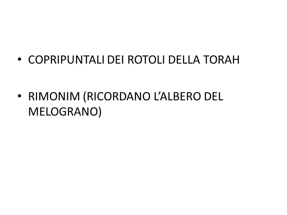 COPRIPUNTALI DEI ROTOLI DELLA TORAH RIMONIM (RICORDANO L'ALBERO DEL MELOGRANO)