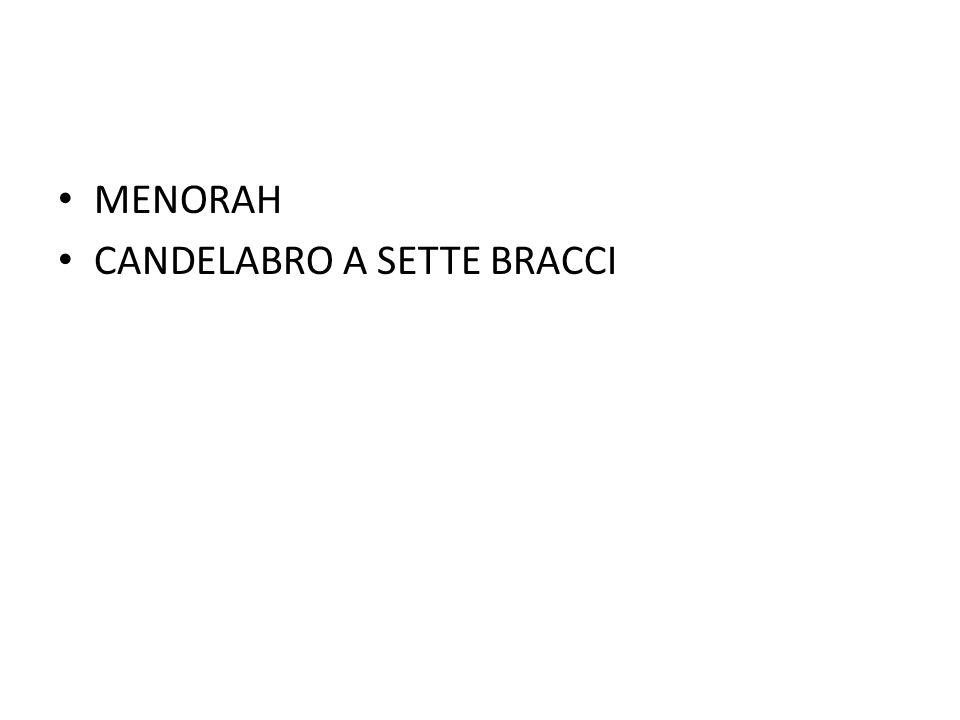 MENORAH CANDELABRO A SETTE BRACCI